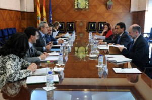 Reunión del Gobierno de Aragón. Foto S.E.