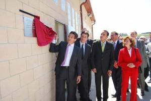 Aliaga en la inauguración de una planta de Monzón. Foto JLP.