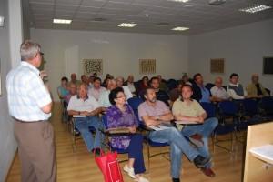 Asamblea de la asociación de hortelanos del Alto Aragón en Barbastro. Foto JLP.