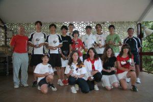 Los medallistas del torneo de tenis. Foto S.E.