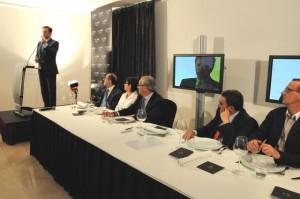 El presidente Iglesias durante su intervención. Foto S.E.
