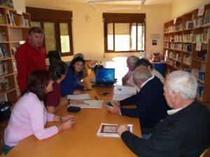 Una clase de Estudio del Patrimonio en Castejón del Puente. (Foto JLP)