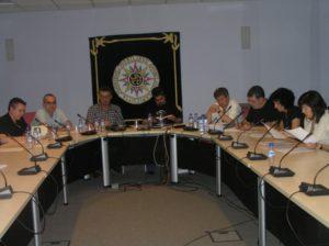 Reunión del jurado de poesía. Foto R.G.