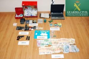 Material incautado por la Guardia Civil. Foto S.E.