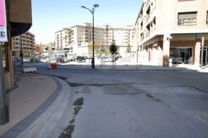 Obras en la calle Corona de Aragón. Foto R.S.