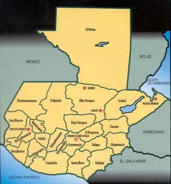Guatemala  Pa  S De La Eterna Primavera  2     Sus 22 Departamentos Y