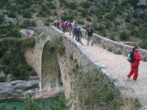 Puente de Pedruel. Foto: Servicio Comarcal de Deportes.