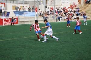 Final disputada entre el Atlético Madrid y el Español. Foto JLP.