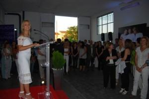 Carmen Palacio en la presentación de su línea. Foto JLP.
