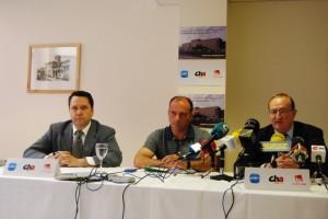 Solana, del PP, Rafel, de CHA, y Víu, de IU. Foto JLP.