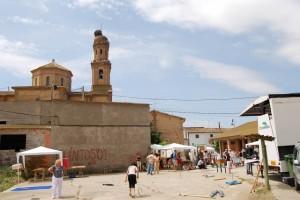 Juegos tradicionales en Pueyo de Santa Cruz. Foto JLP.