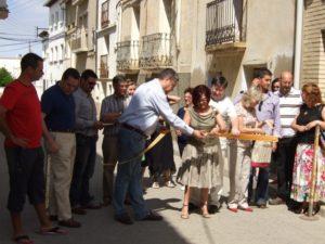 El abogado Jorge Español en la inauguración del Mercado Medieval. Foto S.E.