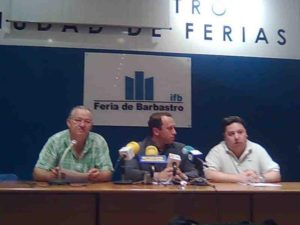 Giral, Lobera y Aixelá en la presentación de la medida. Foto R.S.