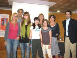 Alumnos, profesores y escritores participantes en la guía.