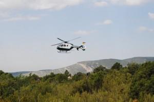 Búsqueda por aire y tierra de la senderista. Foto JLP.