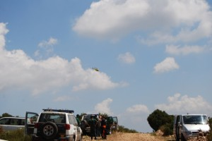 Búsqueda con helicópteros. Foto JLP.