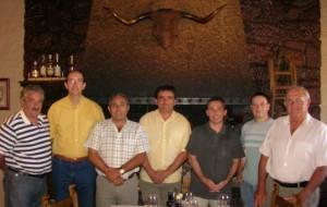Miembros de la asociación gastronómica con Paco Aznar. Foto S.E.