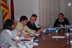 Paricio, junto a Palacín y al alcalde Heras. Foto JLP.