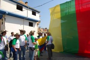Los colombianos izaron la bandera del parchís. Foto JLP.