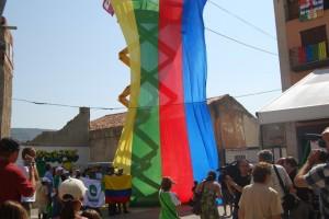 Izado de la bandera del parchís. Foto JLP.