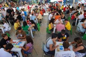 La Plaza España en el momento del inicio del torneo. Foto JLP.
