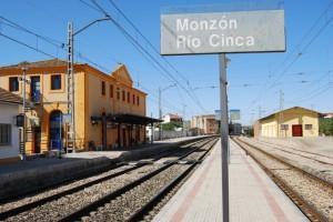 Estación de tren Río Cinca de Monzón. Foto JLP.