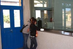 La estación de Monzón es la única de Aragón que mantiene pasajeros. Foto JLP.