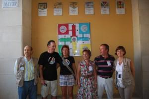 Los ganadores de la primera y de la última edición. Foto JLP.