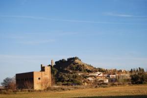 El control con Castejón del Puente al fondo. Foto S.E.