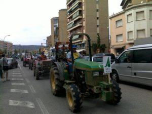 Tractorada por las calles de Fraga. Foto S.E.