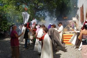 Batalla entre moros y cristianos. Foto JLP.
