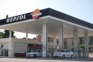 Gasolinera atracada. Foto JLP.