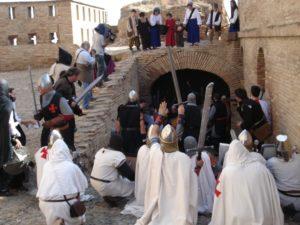 Los templarios resisten en el castillo. Foto José María Ortas.