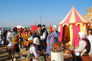 Los actores recrearon la época medieval. Foto JLP.
