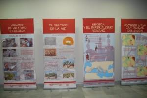 Exposición sobre la viticultura en Segeda. Foto R.S.
