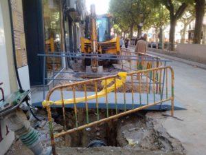 Obras en el Paseo del Coso. Foto JLP.