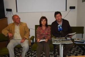Paco Lacau, Inma Subías y José Masgrau. Foto JLP.