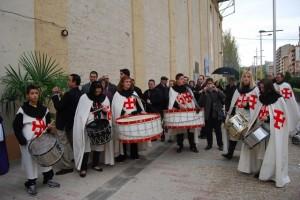 La banda de la Asociación Templaria de Monzón. Foto R.S.