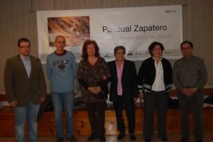 Familiars de Pascualín junto a Carlos Duaso y Fernando Roy. Foto JLP.