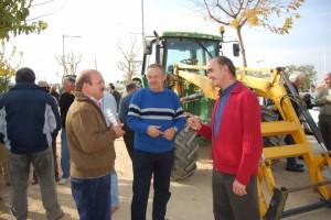 Agricultores del Somontano en Barbastro. Foto JLP.