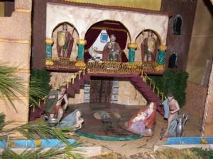 Una de las escenas del Belén de Almunia de San Juan. Foto R.S.