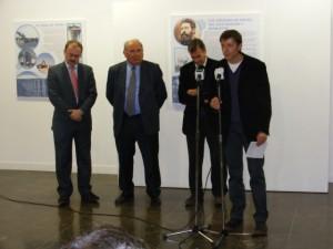 El sociólogo Javier Sampedro junto a Hidalgo, Trillo y Cosculluela. Foto S.E.