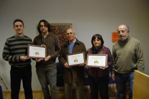 Nacho Pardinilla, Pablo Calahorra, Luciano Puyuelo, Pilar Mairal y Luis Araguás. Foto JLP.