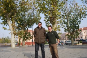 Miguel Aso y Luis Lezana. Foto JLP.