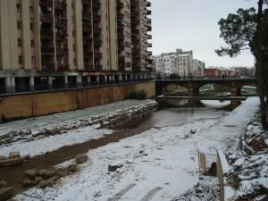 Riberas del Sosa de Monzón nevadas. Foto José María Ortas.