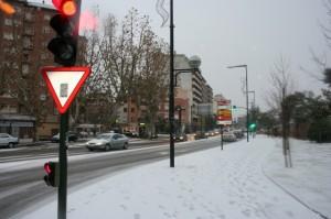 La nieve sobre la travesía de Monzón. Foto Franciso José Porquet.