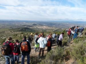 La sierra ofrece vistas sobre el valle del Cinca. Foto JLP.