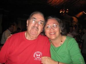Vicente Chapero y su  esposa, Ninette de Chapero.