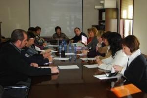 Reunión de trabajo mantenida en la Comarca. Foto JLP.