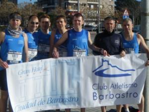Atletas de Barbastro. Foto S.E.